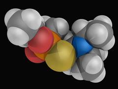 vx nerve agent molecule - stock illustration