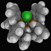 wilkinson's catalyst molecule - stock illustration