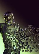 Stealth suit, conceptual artwork Stock Illustration