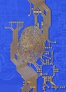 Biometric security, artwork Stock Illustration