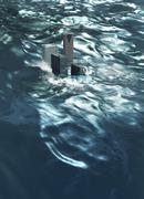 Flooding, conceptual artwork Stock Illustration