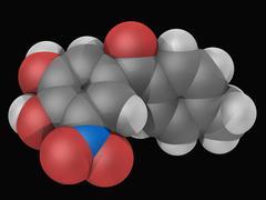 tolcapone drug molecule - stock illustration
