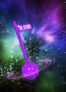 This way to the future, artwork Stock Illustration