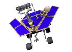 Mars exploration rover, artwork Stock Illustration