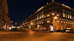 The Grand Hotel Europe at White nights, St. Petersburg, Russia - stock footage