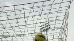 Football goal Stock Footage