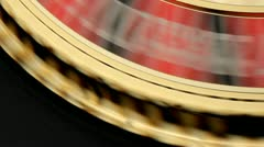 Roulette Wheel stops at 13 - stock footage