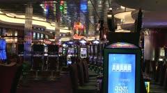 Slot Machines Casino Zoom Shot Stock Footage