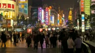 Stock Video Footage of China, Shanghai, people night T/L