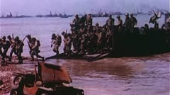 WW2-ColorFootage WW2-ColorFootage. Allied Forces at D-Day Stock Footage