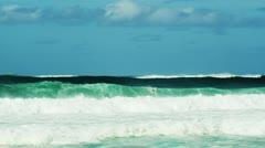 big wave n.shore - stock footage