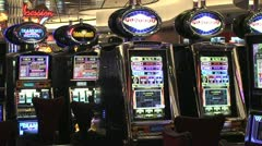 Neon Slot Machines Stock Footage