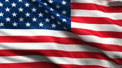 Seamless USA Flag - stock footage