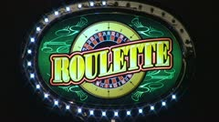 Roulette Sign Stock Footage