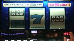 Slot Reels With Bars Stock Footage