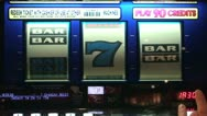 Stock Video Footage of Slot Reels With Bars