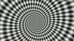 Crazy Black and White spiral - stock footage