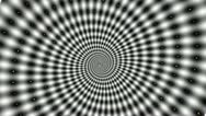 Crazy Black and White spiral Stock Footage