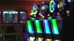 Neon Slots Machines Soft Focus Stock Footage