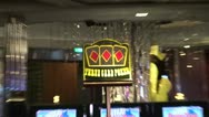 Stock Video Footage of Three Card Poker Sign Zoom