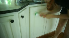housework cleaning kitchen clean house - stock footage