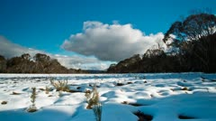 Snow plains and clouds 1 Stock Footage