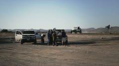 Car in desert Stock Footage