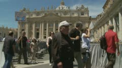 The end of the Pope's Mass, St Peters - stock footage