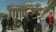 The end of the Pope's Mass, St Peters Stock Footage