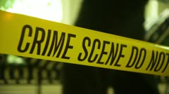 Stock Video Footage of crime scene indoors  police work CSI crime investigator criminal