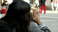 Mies taputtaa suosionosoitukset nyc.clip.71 Arkistovideo