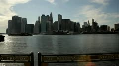 Hudson River Manhattan Skyline.clip.121 - stock footage