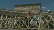 Pope's mass, Pilgrims leave St Peters (1) Stock Footage