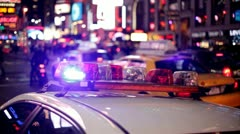 New York Police car NYPD.nyc.clip.19 Stock Footage