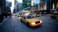 New York Taxis.13 Stock Footage