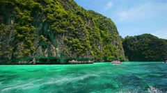 Boat trip to tropical islands, Thailand Stock Footage