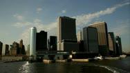 Manhattan skyline hudson river nyc.clip.75 Stock Footage