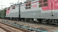 Freight train in Russia Stock Footage