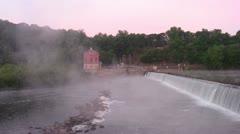 Potomac Dam 5 at Dawn Stock Footage