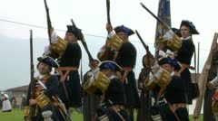 Savoian infantry firing 09 Stock Footage
