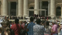 Pope's mass at St Peters, Rome (10) - stock footage
