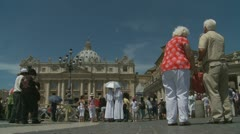 Pope's mass at St Peters, Rome (9) - stock footage
