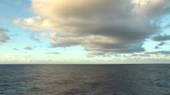 Huge cloudscape over the ocean Stock Footage