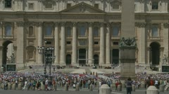 Pope's mass at St Peters, Rome (8) - stock footage