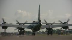 B-29 military plane Stock Footage