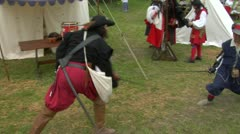 Sword fight 04 Stock Footage