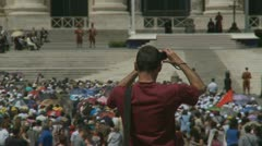 Pope's mass at St Peters, Rome (7) PHOTOGRAPHING Pope Benedict XVI Stock Footage
