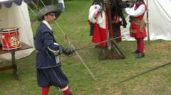 Sword fight 05 Stock Footage