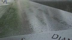 9/11 Memorial close up shallow depth HD777 Stock Footage