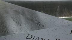9/11 Memorial pan HD779 Stock Footage